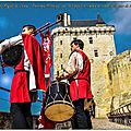 Forteresse royale de chinon ; panorama historique vue 360 depuis le chemin de ronde de la tour de l'horloge.