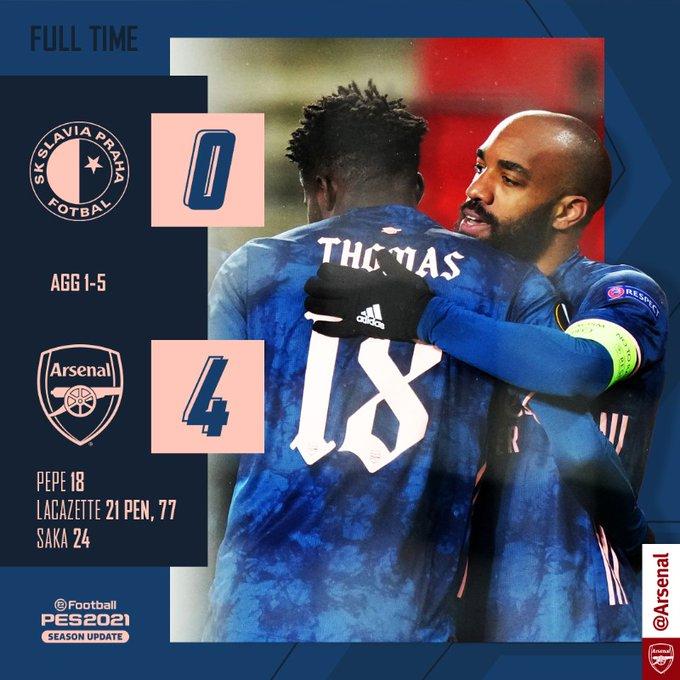 Arsenal qualifiés pour les demi finale de l'Europa League !