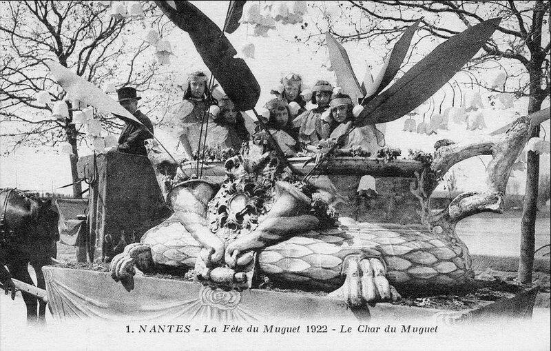 CPA Nantes Fête du muguet 1922