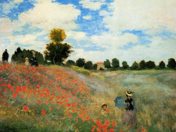 Photo-tableau-Claude-Monet-les-coquelicots