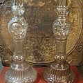 Anciens grands bougeoirs chandelier bouteilles legras d&d bte s.g.d.g / candlestick