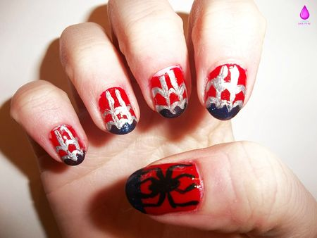 Make Up Your nails - Spiderman
