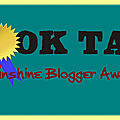 Tag #18 - sunshine blogger award