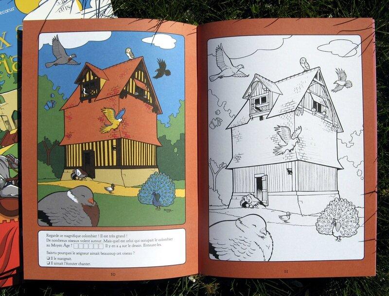 livre de coloriage chateau de crevecoeur remi bostal 2
