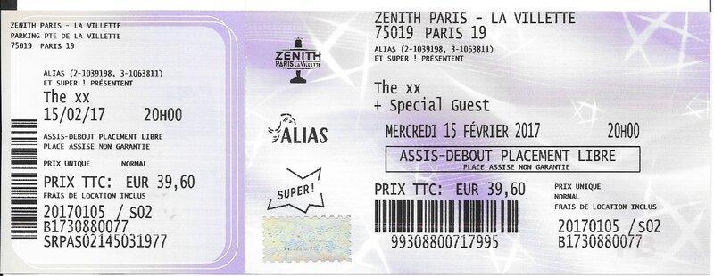 2017 02 15 The xx Zénith Billet