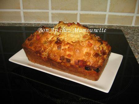 Cake aux canneberges et fruits confits 006
