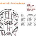 Grammaire :coloriage codé sur la nature des mots afrique