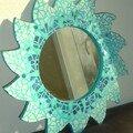 Mon soleil bleu en mosaïque