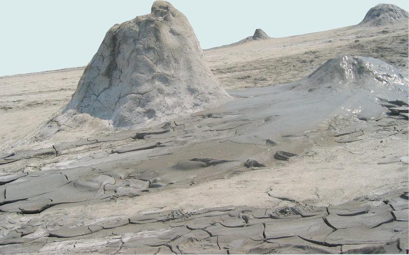 TRANSYLVANIE Volcan de boue à BUZAU