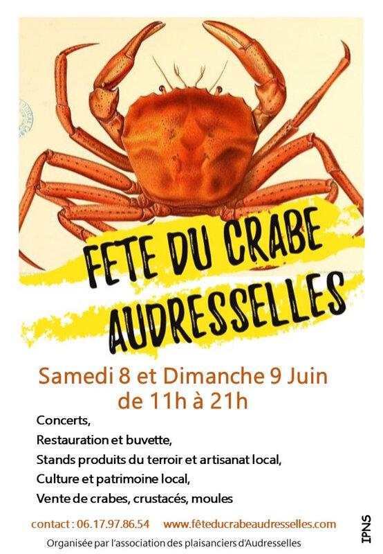affiche fete du crabe 2019