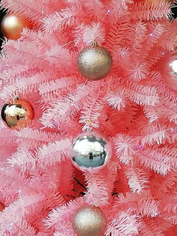 Sham Shui po arbre de Noël rose