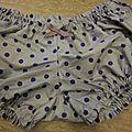 Culotte BIANCA en coton parme grisé à pois violet - noeud parme à pois (3)