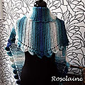 Roselaine Side to side crochet shawl 3