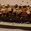 Bûche de noël au nutella, noisettes & meringue (sans crème au beurre)