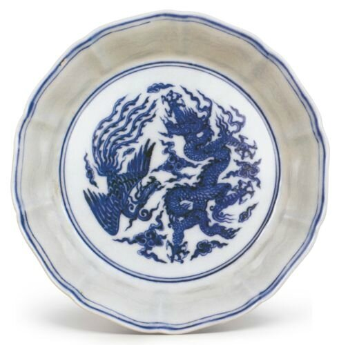 A blue and white 'phoenix and dragon' brush washer, Ming dynasty, Xuande period © The Palace Museum, Beijing
