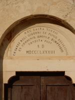 Novigrad, porte de l'église (fermée), 25 octobre 2019