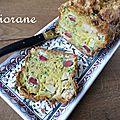 Cake aux gésiers, foie gras et boudin blanc