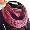 Grand col-snood infinity adulte