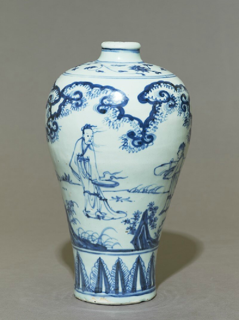 Blue-and-white meiping, or plum blossom vase, 15th century, Ming Dynasty (1368 - 1644)