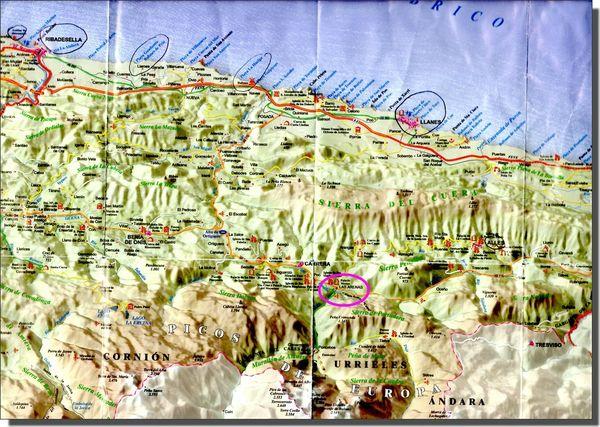 carte Asturies