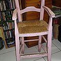 Une chaise enfant chinée...