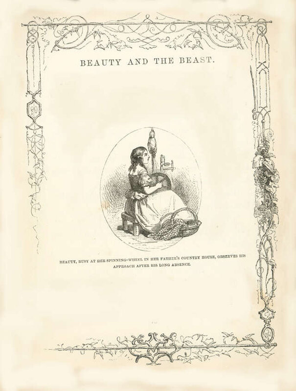 the-beauty-and-the-beast-black-and-white-drawing-william-h-thwaites
