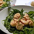 Salade aux crevettes et avocats, sans gluten et sans lactose
