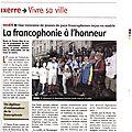 La francophonie à l'honneur à l'hôtel de ville