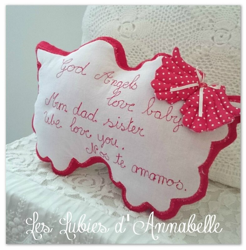 coussin ailes d'ange dos