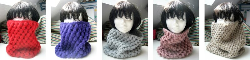puffy snood collection