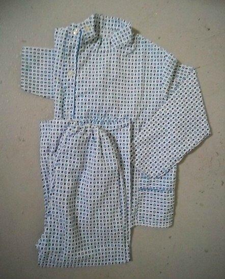 pyjama vintage bleu