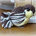 Oiseau en laine : le tuto