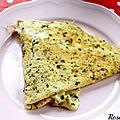 Une omelette légère et savoureuse avec matines ! {recette omelette au lait de coco et à la coriandre}