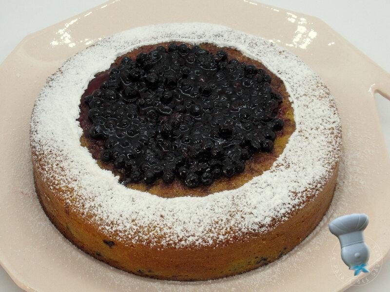 Gâteau au fromage blanc et aux myrtilles