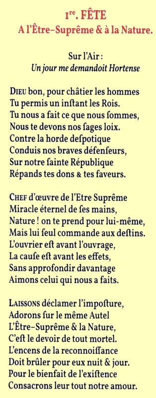 10 vendémiaire Chant