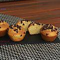 Muffins à la farine de maïs et pépittes de chocolat