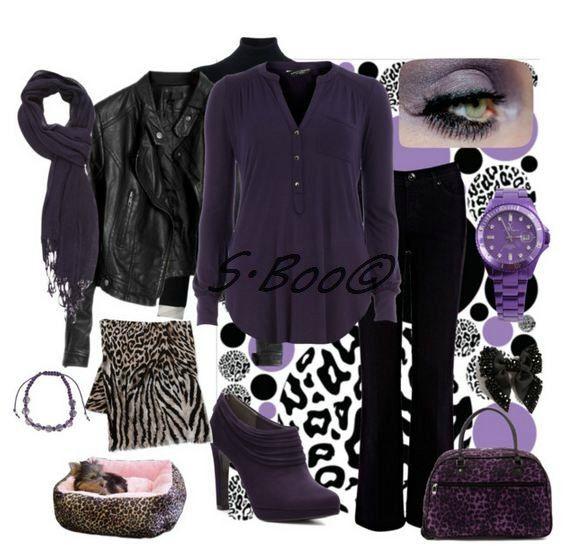 look violet & noir
