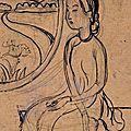 Attribué à mai thu (1906-1980), jeune femme assise devant une fenêtre