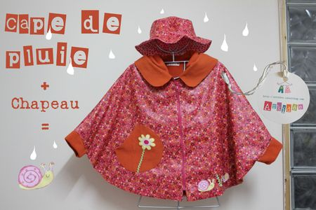 Cape et chapeau de pluie