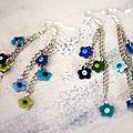 Fleurettes vertes et bleues 1