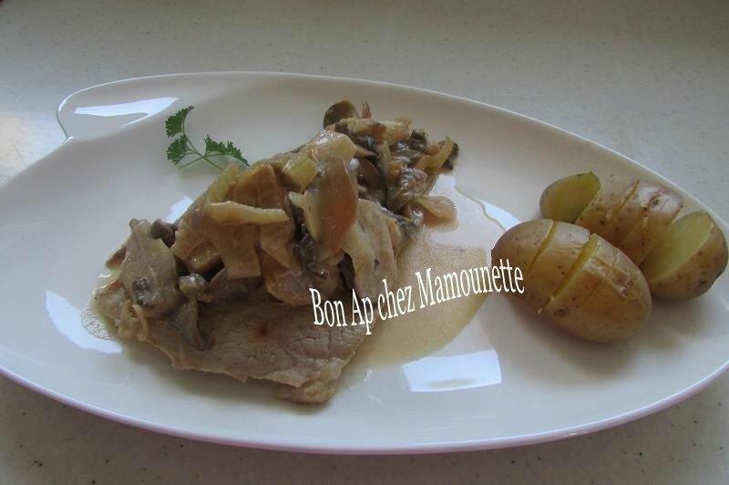 escalopes de veau champignons pdt à la normande 011-