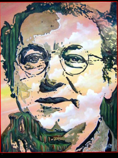 COLUCHE....Huile sur toile by Hazoo!