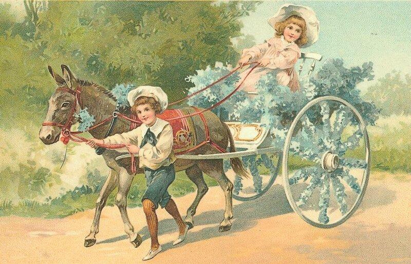 la cariole et son âne