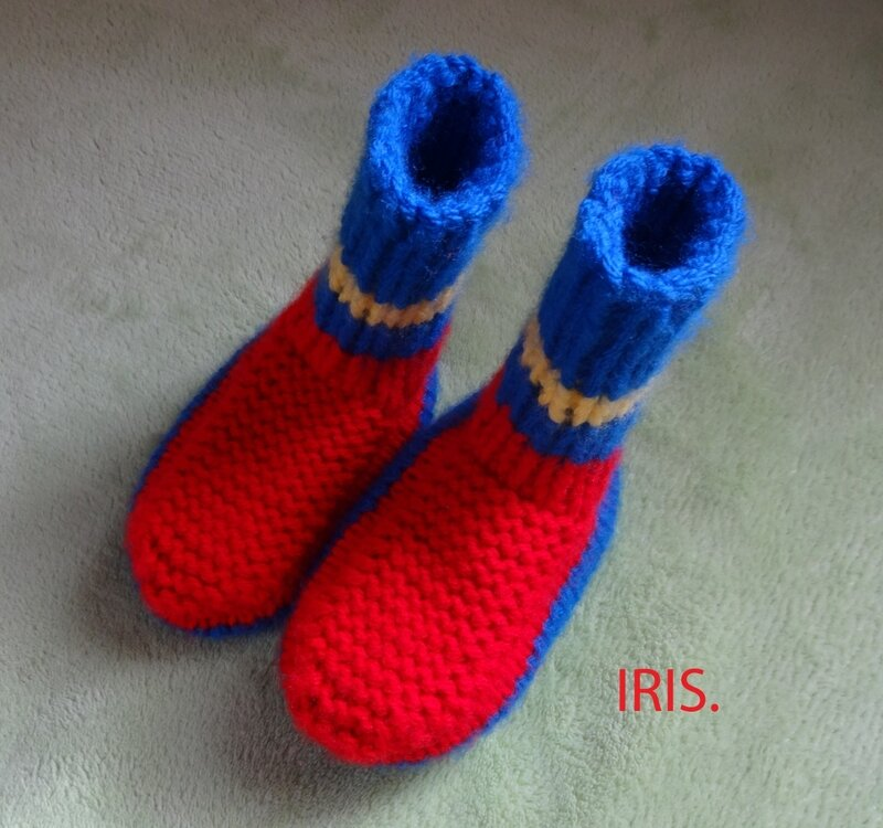 chaussons pour Théo