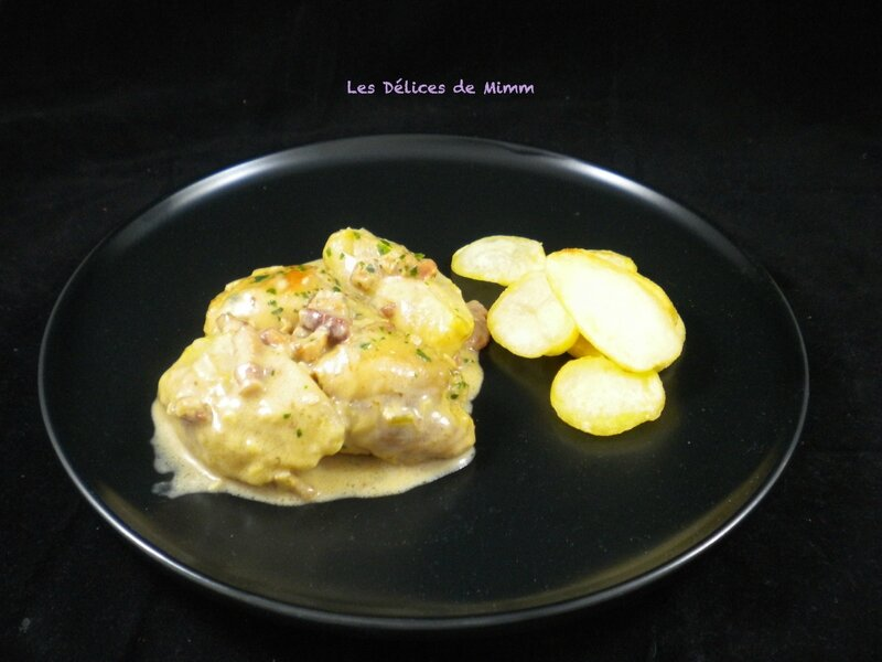 Hauts de cuisses de poulet aux pommes et aux lardons 3