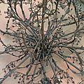 Lustre florentin en cours de fabrication