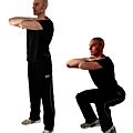 Le squat ou flexion de jambes: le meilleur exercice pour les cuisses.