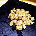 Wok de poulet au miel et gingembre