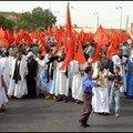 العيون-صورمن مظـــــاهرات تشبت الصحراويون بالمملكة المغربية