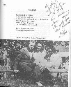 Helene et Rene Guy Cadou Abbaretz 1943